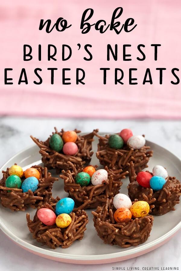 No Bake Bird's Nest Easter Treats