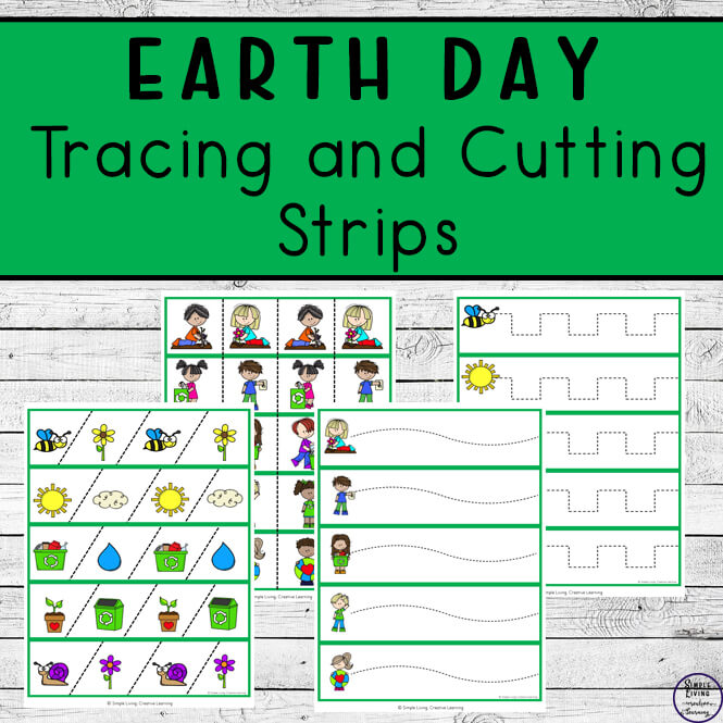 Earth Day Tracing and Cutting Strips