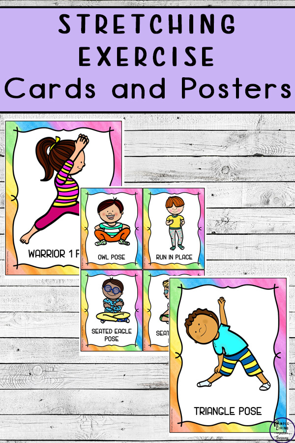Stretching Exercise Cards and Posters