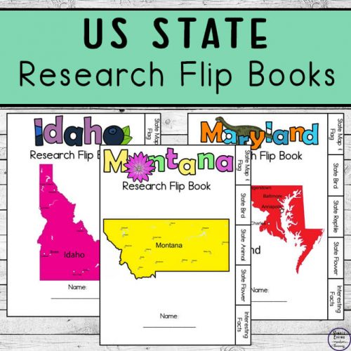 US State Research Flip Books