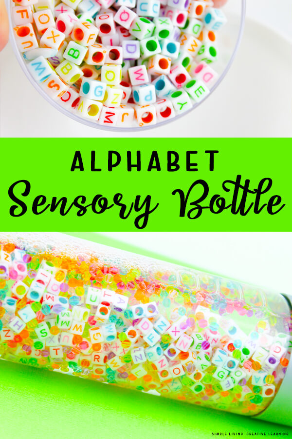 Alphabet Sensory Bottle