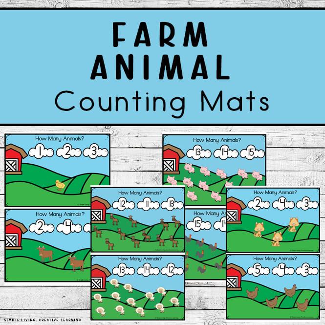 Farm Animal Counting Mats