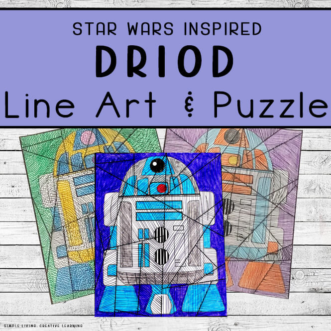 Droid Line Art and Puzzle