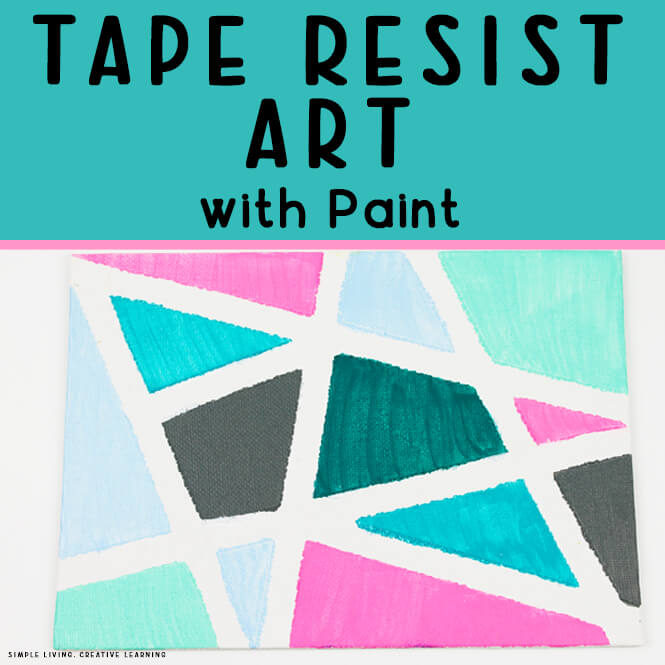 Tape Resist Art with Paint