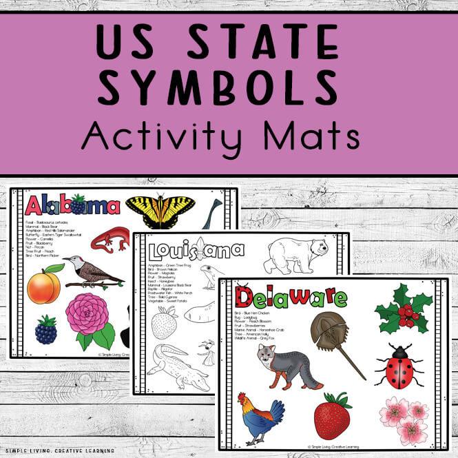 US State Symbols Activity Mats