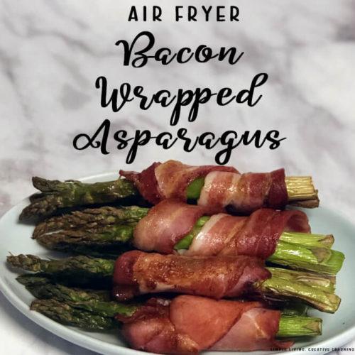 Air Fryer Bacon Wrapped Asparagus