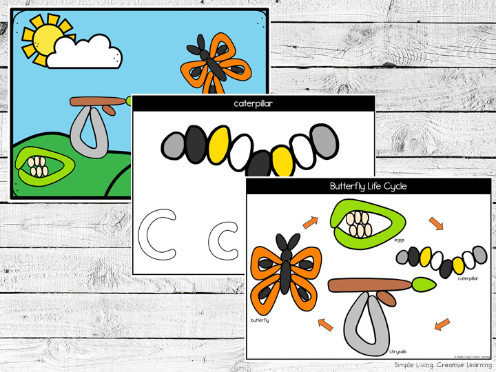 Butterfly Life Cycle Playdough Mats
