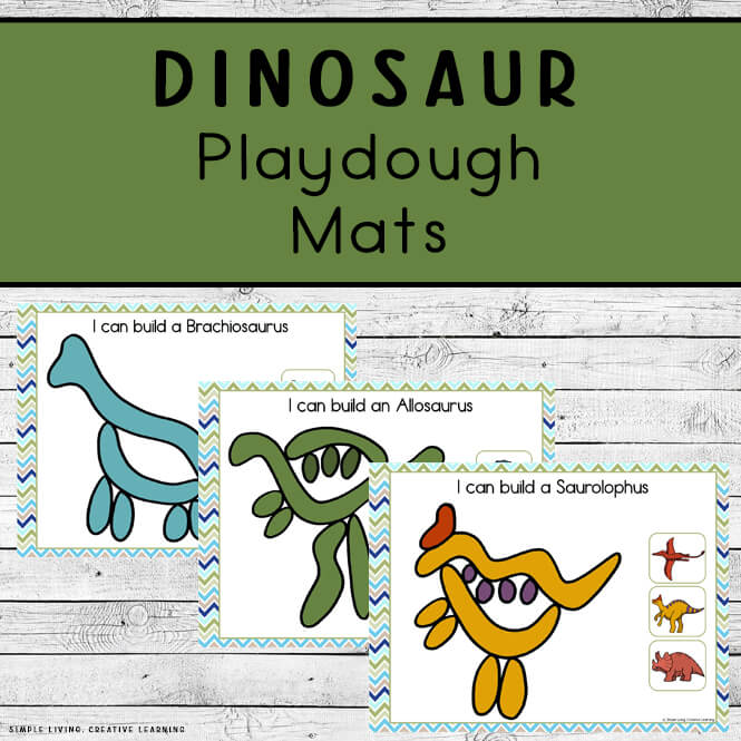 Dinosaur Playdough Mats