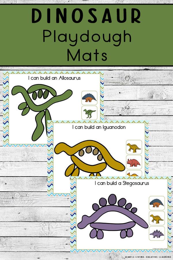 Dinosaur Playdough Mats