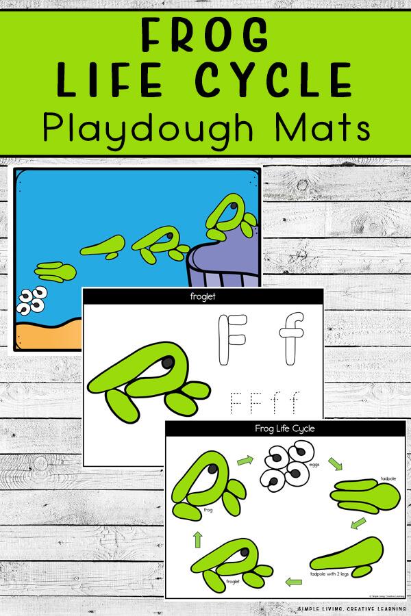 Frog Life Cycle Playdough Mats