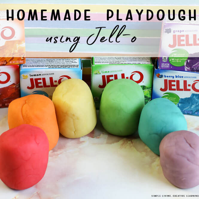 How to Make Homemade Playdough with Jell-O