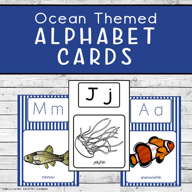 Ocean Themed Alphabet Cards