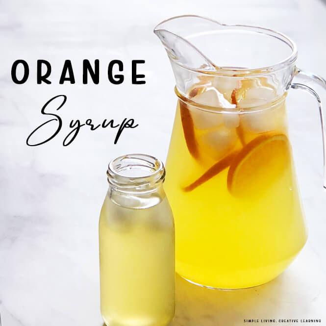 How to Make Orange Syrup