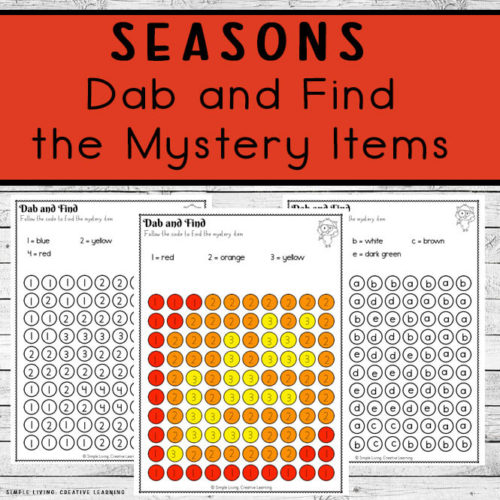 Seasons Dab and Find Activity