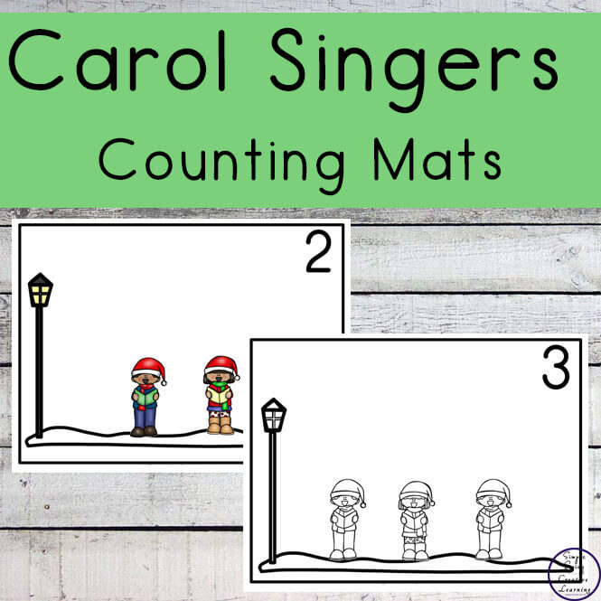 Carol Singers Counting Mats