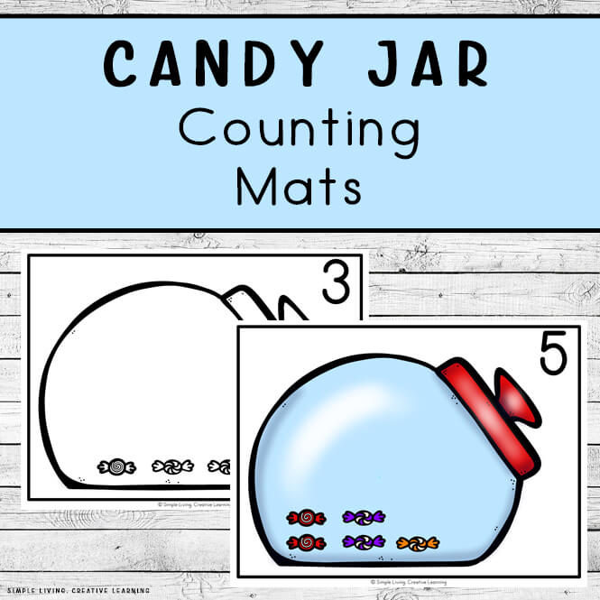 Candy Jar Counting Mats