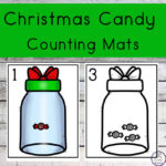 Christmas Candy Counting Mats