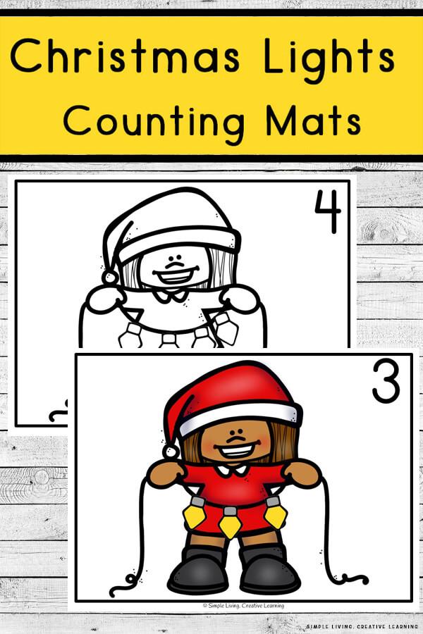 Christmas Lights Counting Mats