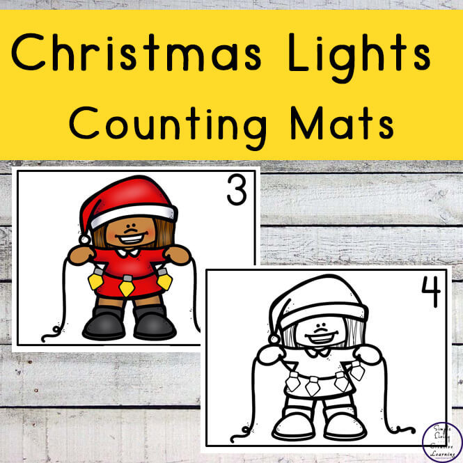 Christmas Lights Counting Mats