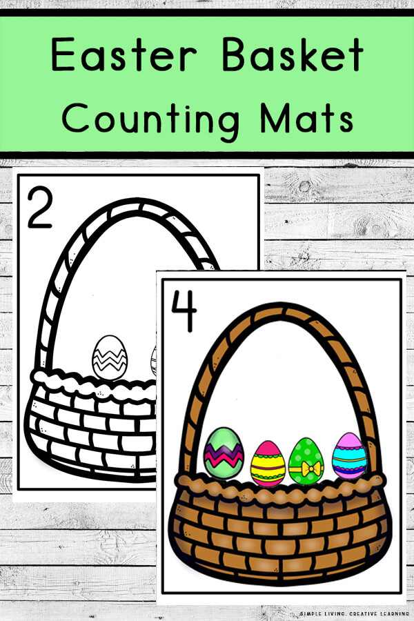 Easter Egg Basket Counting Mats