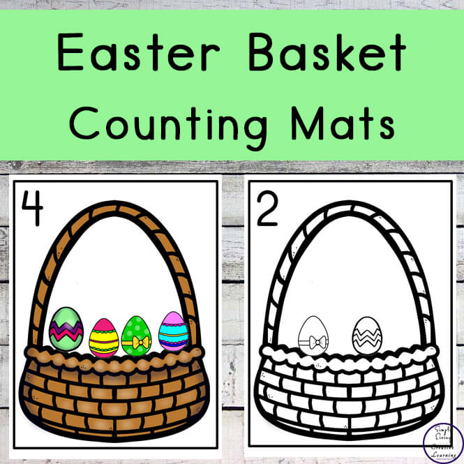 Easter Basket Counting Mats