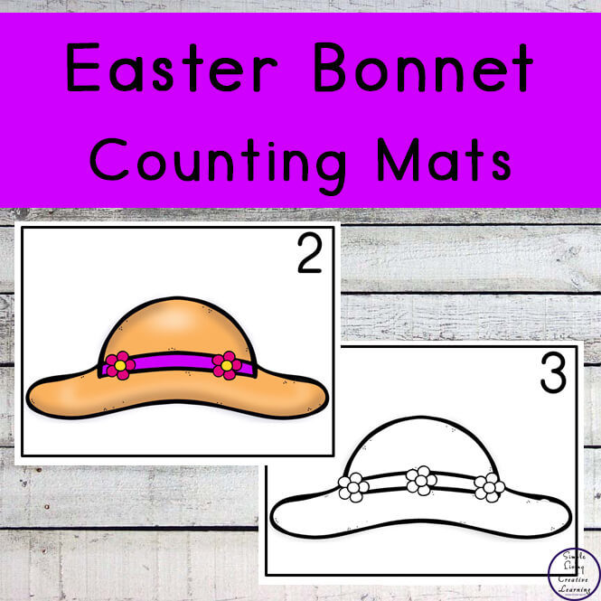 Easter Bonnet Counting Mats