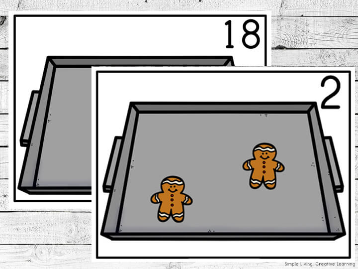 Gingerbread Counting Mats