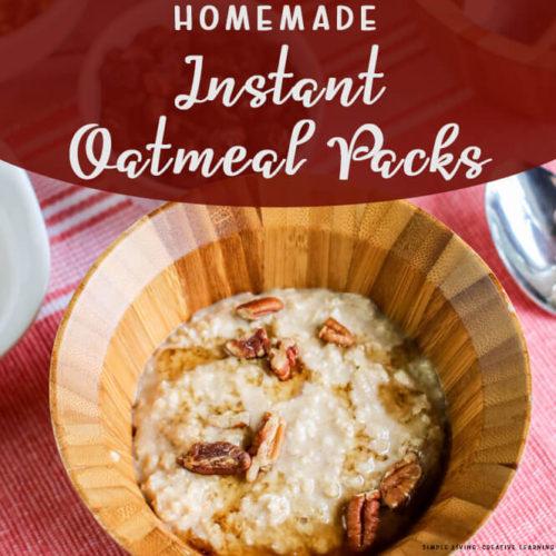 Homemade Instant Oatmeal Packs