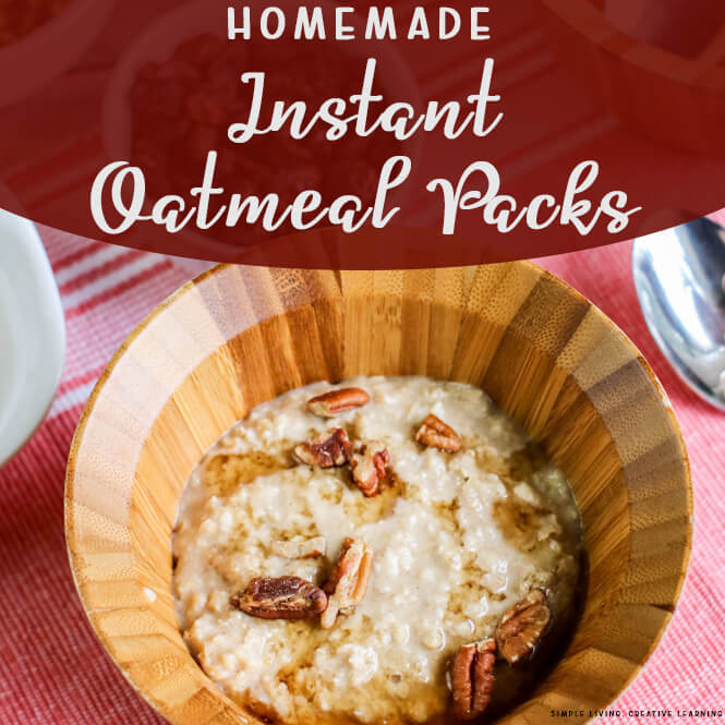 Homemade Instant Oatmeal Packs
