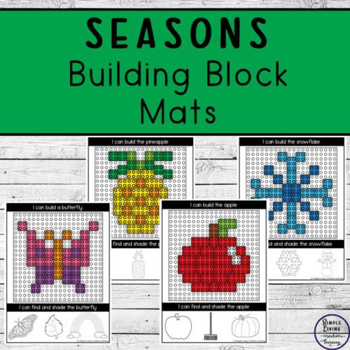 Seasons Building Block Mats