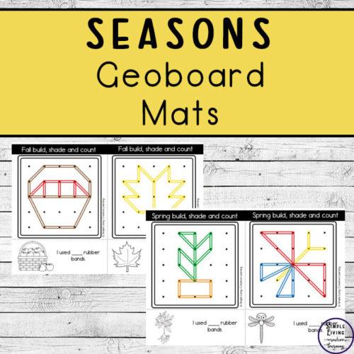 Seasons Geoboard Mats