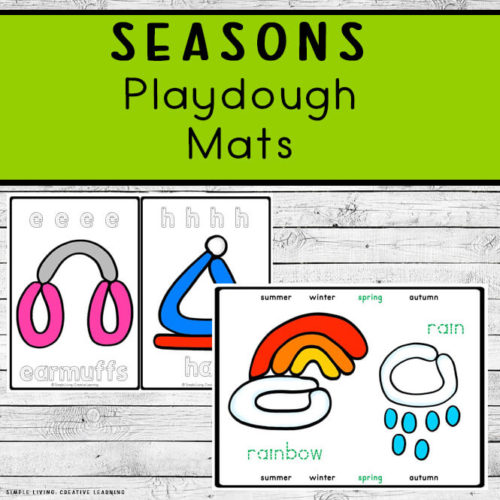 Seasons Playdough Mats