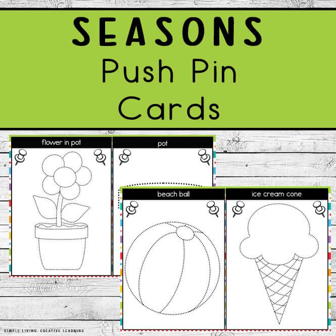 Seasons Push Pin Cards