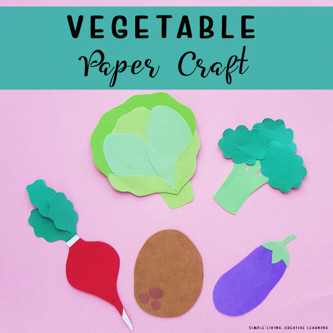 Vegetable Paper Craft Activity