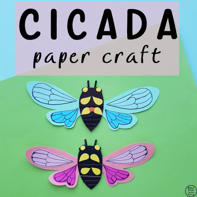 Cicada Paper Craft
