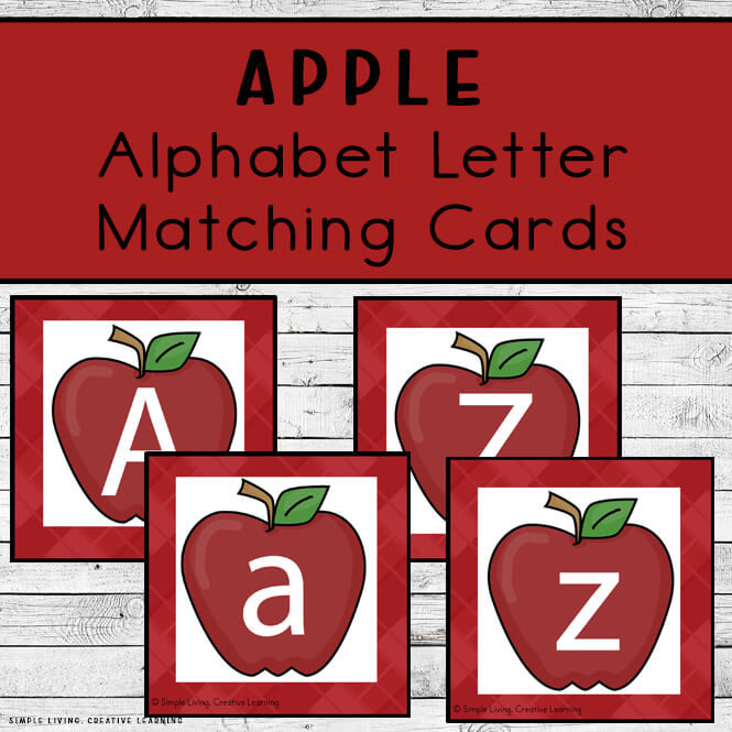Apple Alphabet Matching Cards