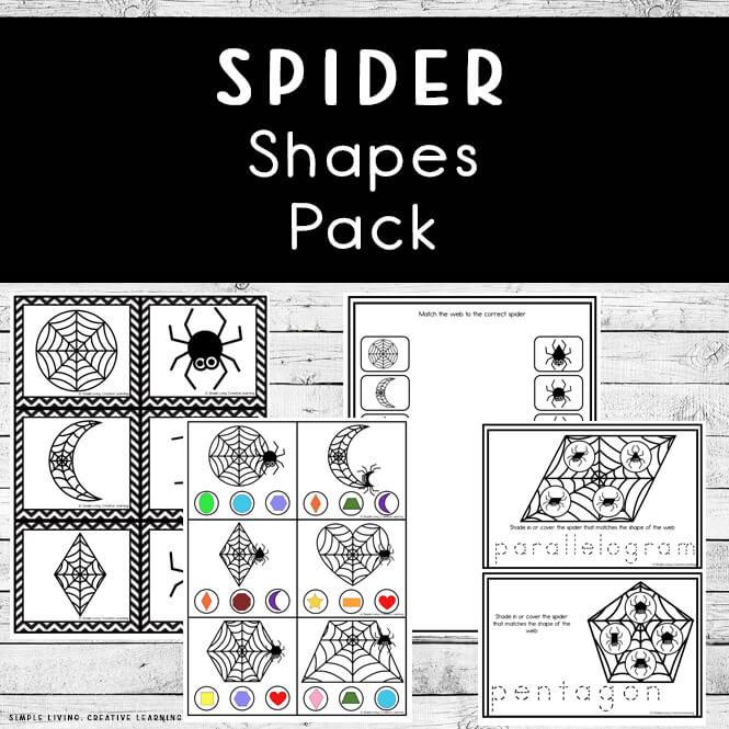 Spider Shapes Pack
