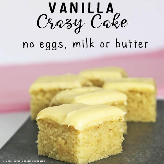 Crazy Vanilla Cake