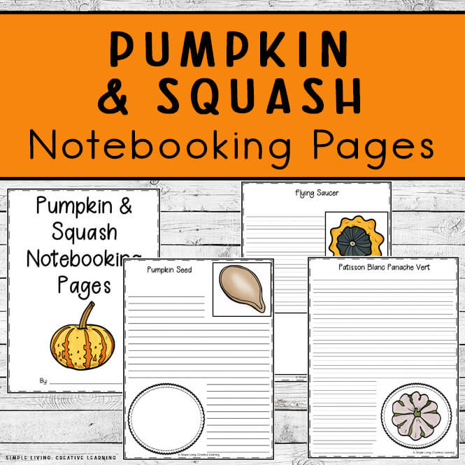 Pumpkin and Squash Notebooking Pages