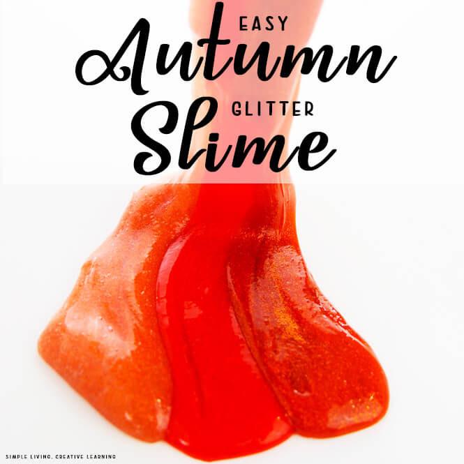 Autumn Glitter Slime