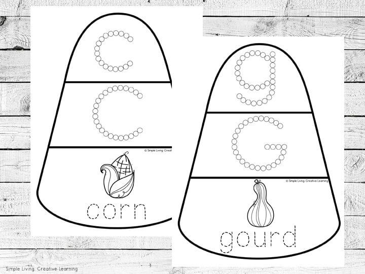 Candy Corn A - Z Mats