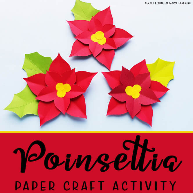 Poinsettia Paper Craft Activity