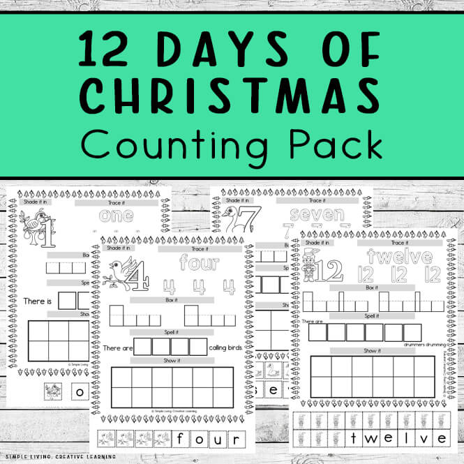 12 Days of Christmas Counting Pack