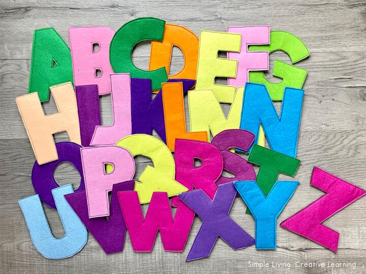 Sew a Felt Alphabet