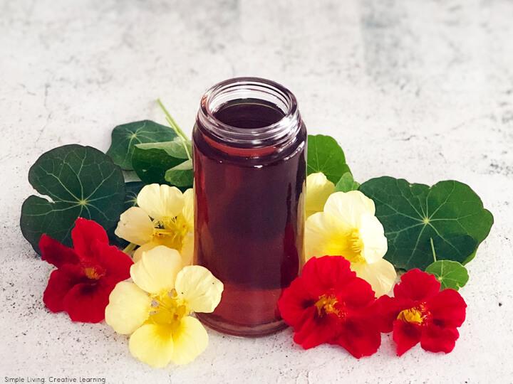 Nasturtium Infused Vinegar