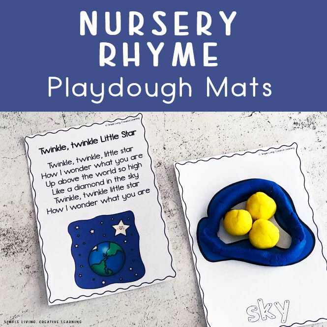 Nursery Rhyme Playdough Mats