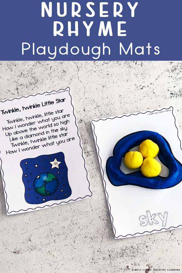 Nursery Rhyme Playdough Mats