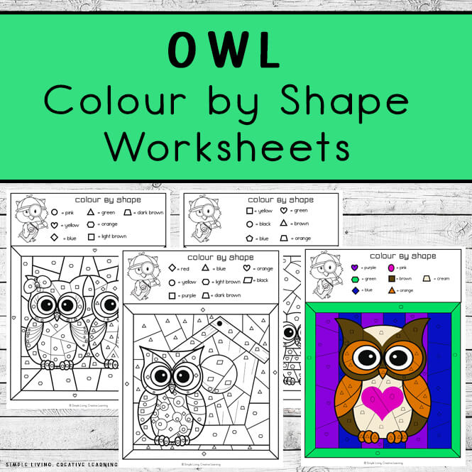 Owl Colour By Code Worksheets