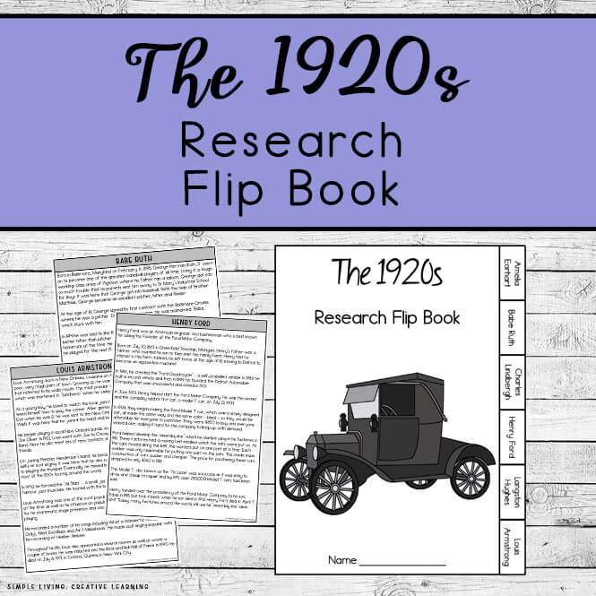 1920s Research Flip Book