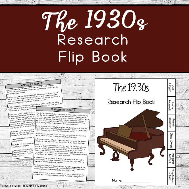 1930s Research Flip Book